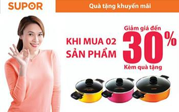 Independence week promotion with many exciting gifts worth up to 1,500,000 VND form 3 brands ASIAvina, SUPOR and TEFAL